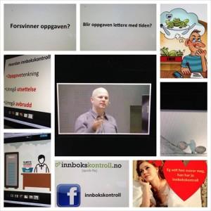 Fin fotomontasje fra Organisasjonsrådgiveren Ingfrid Landsnes som fulgte foredraget mitt live
